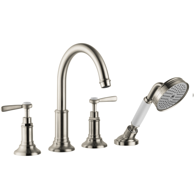 Hansgrohe 16550821 Axor Montreux 4 Hole Roman Tub Trim Set with Lever Handle - Brushed Nickel