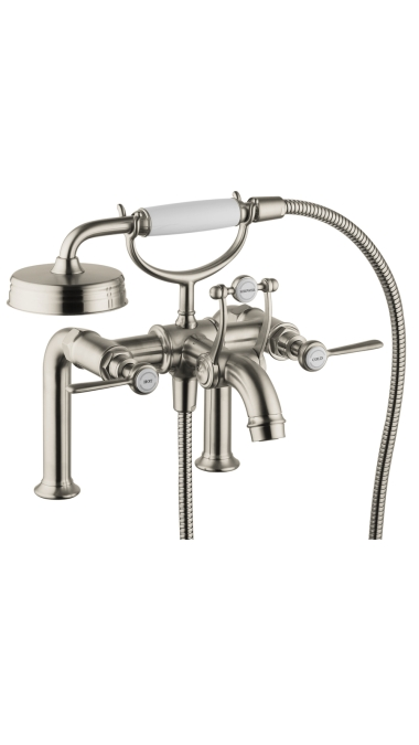 Hansgrohe 16552821 Axor Montreux Rim Mounted Tub Filler with Lever Handle - Brushed Nickel