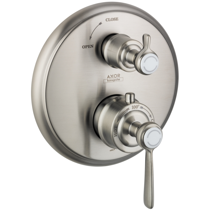 Hansgrohe 16801821 Axor Montreux Thermostatic Trim with Volume Control - Brushed Nickel