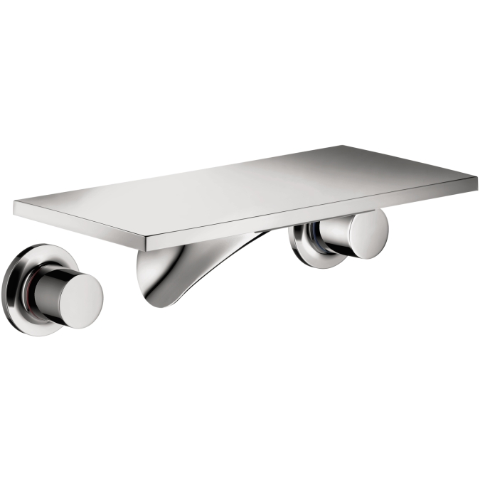 Hansgrohe 18112001 Axor Massaud Wall Mounted Widespread Short Trim Faucet - Chrome