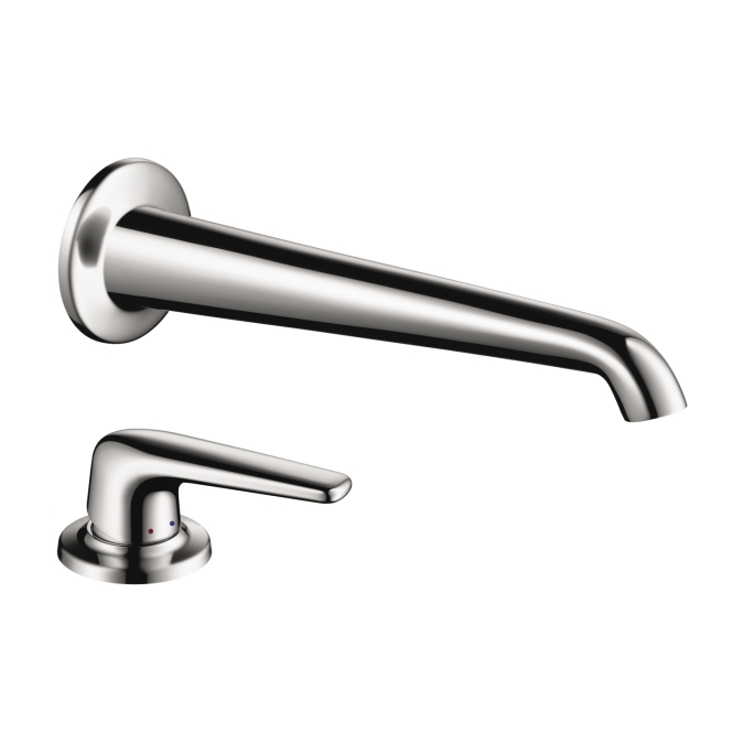 Hansgrohe 19137001 Axor Bouroullec Wall Mounted Faucet with Deck Mounted Single Lever Handle - Chrome