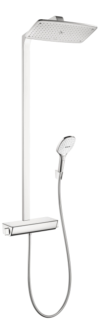 Hansgrohe 27112401 Raindance Select E 360 Showerpipe - White/Chrome