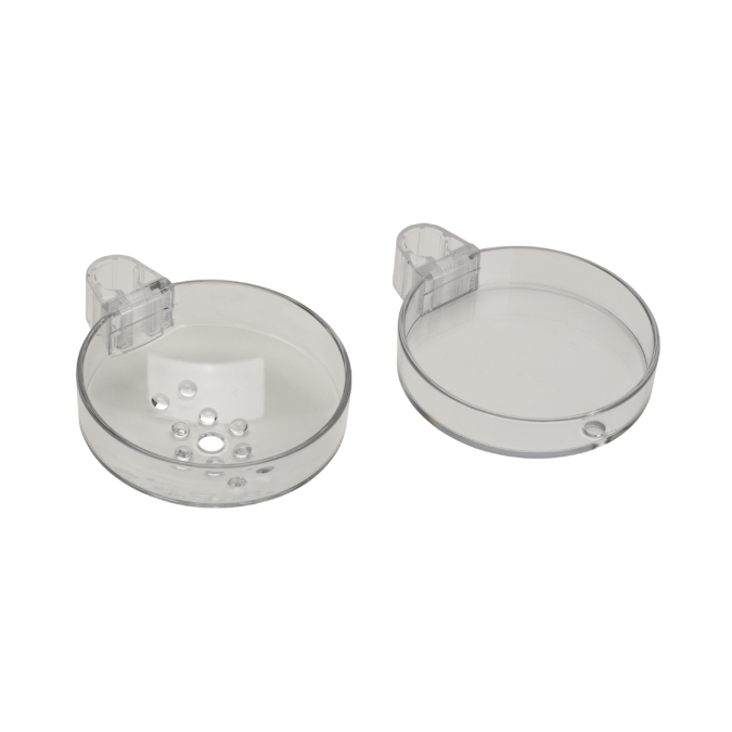 Hansgrohe 28675000 Cassetta S Double Soap Dish - Clear