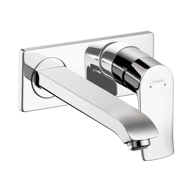 Hansgrohe 31086001 Metris Wall Mounted Single Handle Trim Faucet - Chrome