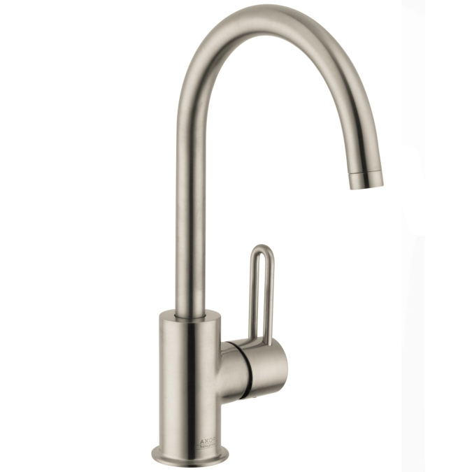 Hansgrohe 38030821 Axor Uno High Spout Single Hole Faucet - Brushed Nickel