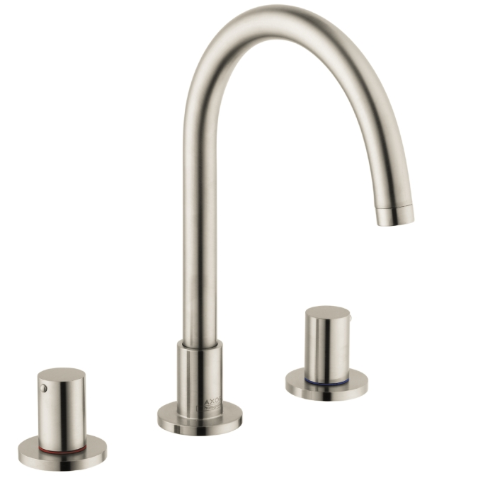 Hansgrohe 38053821 Axor Uno Widespread Faucet - Brushed Nickel