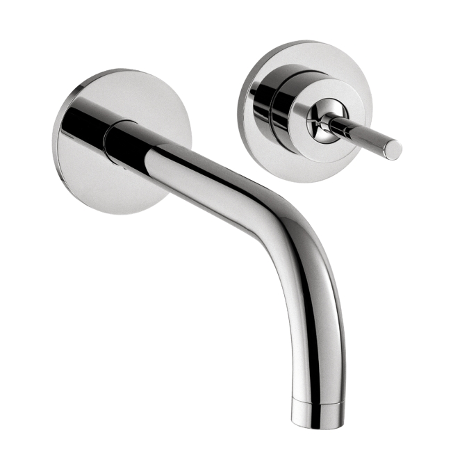 Hansgrohe 38118001 Axor Uno Wall Mounted Single Handle Trim Faucet - Chrome