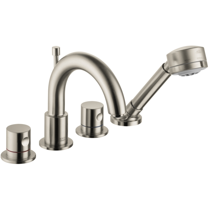 Hansgrohe 38447821 Axor Uno 4 Hole Roman Tub Trim Set - Brushed Nickel