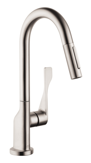 Hansgrohe 39836801 Axor Citterio 2 Spray Prep Pull-down Kitchen Faucet - Steel Optik