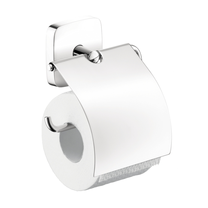 Hansgrohe 41508000 Puravida Toilet Paper Holder with Cover - Chrome