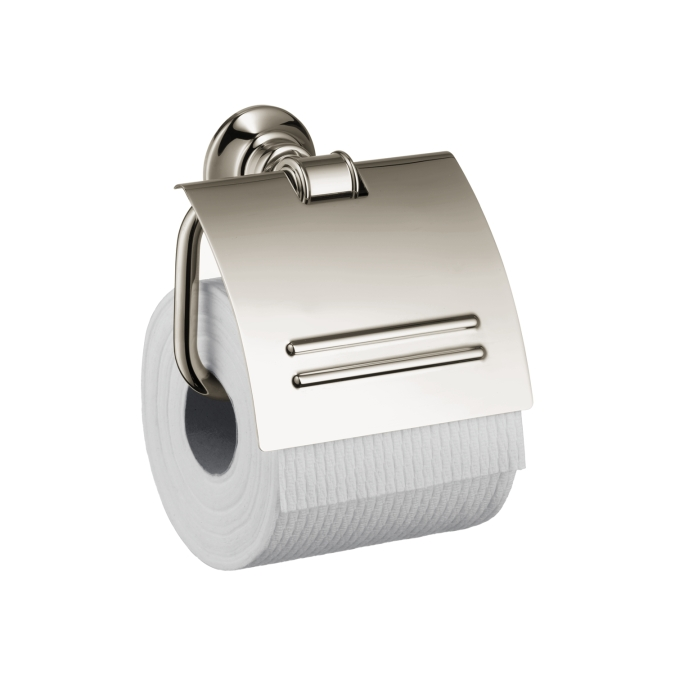 Hansgrohe 42036830 Axor Montreux Toilet Paper Holder with Cover - Polished Nickel