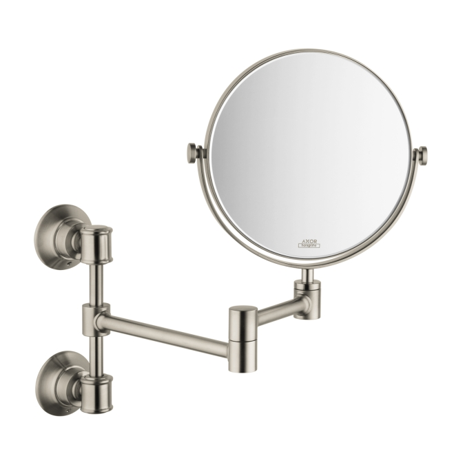 Hansgrohe 42090820 Axor Montreux Pull-out Shaving Mirror - Brushed Nickel