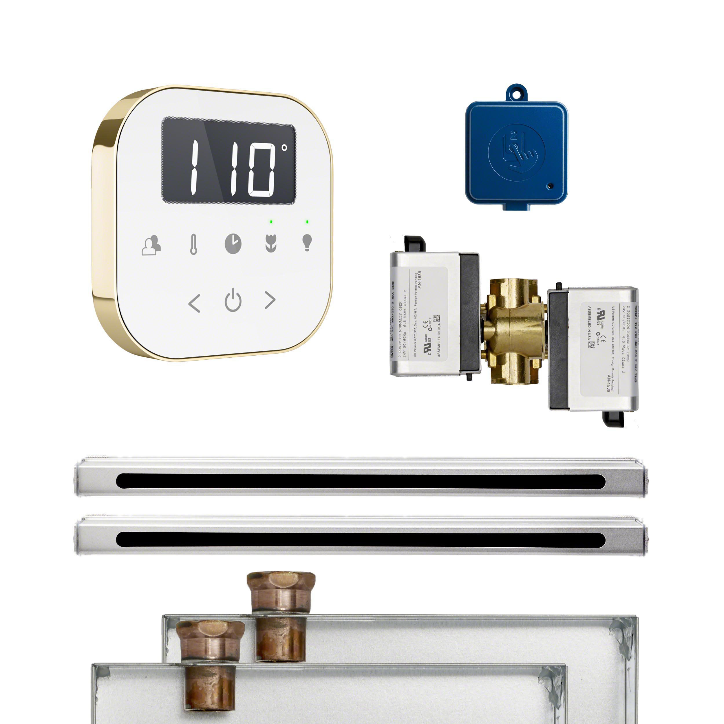 Mr Steam ABUTLERL2WPB AirButler 2 Linear Package White Polished Brass