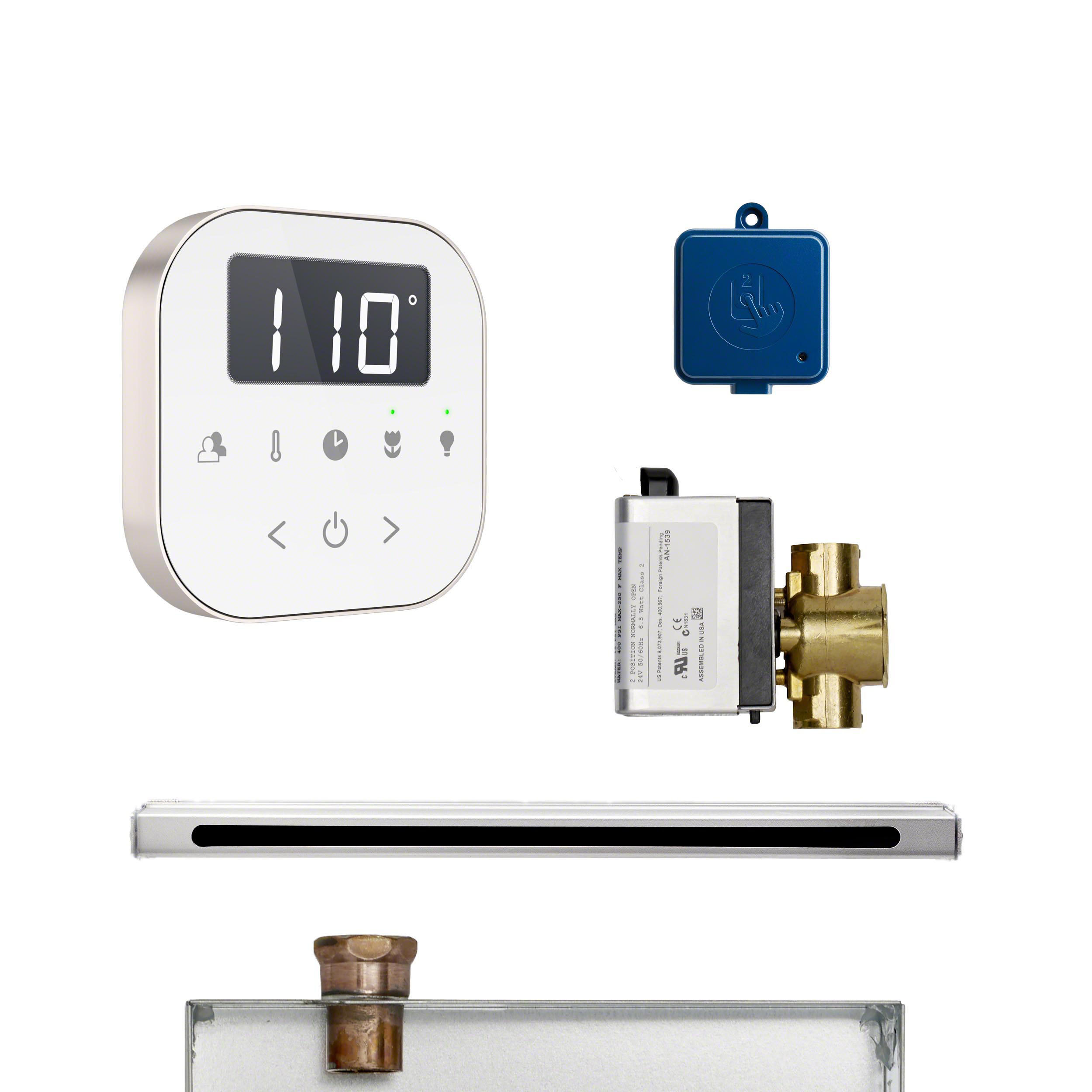 Mr Steam ABUTLERLWHBN AirButler Linear Package White Brushed Nickel