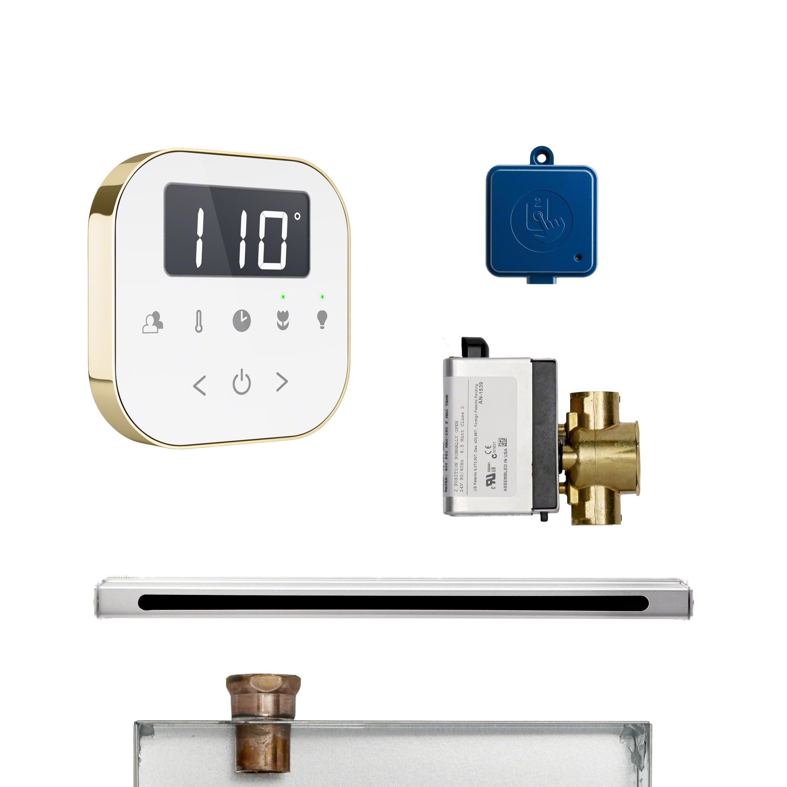 Mr Steam ABUTLERLWHPB AirButler Linear Package White Polished Brass