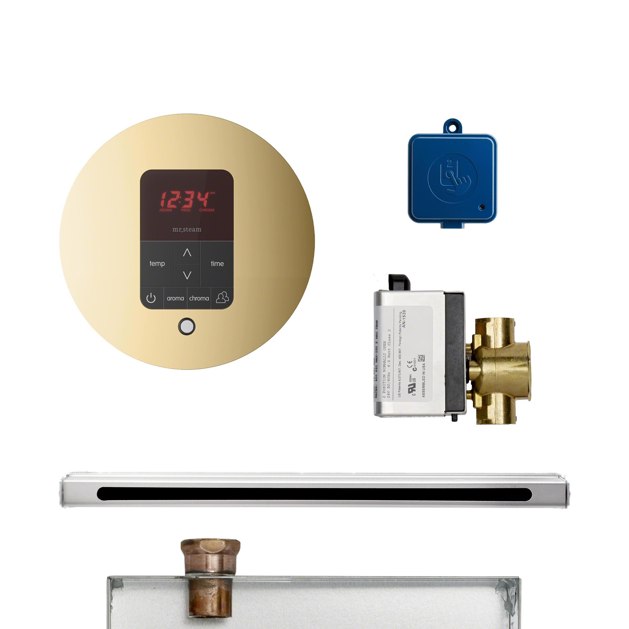 Mr Steam BUTLERL1RPB Butler Linear Package Round Polished Brass