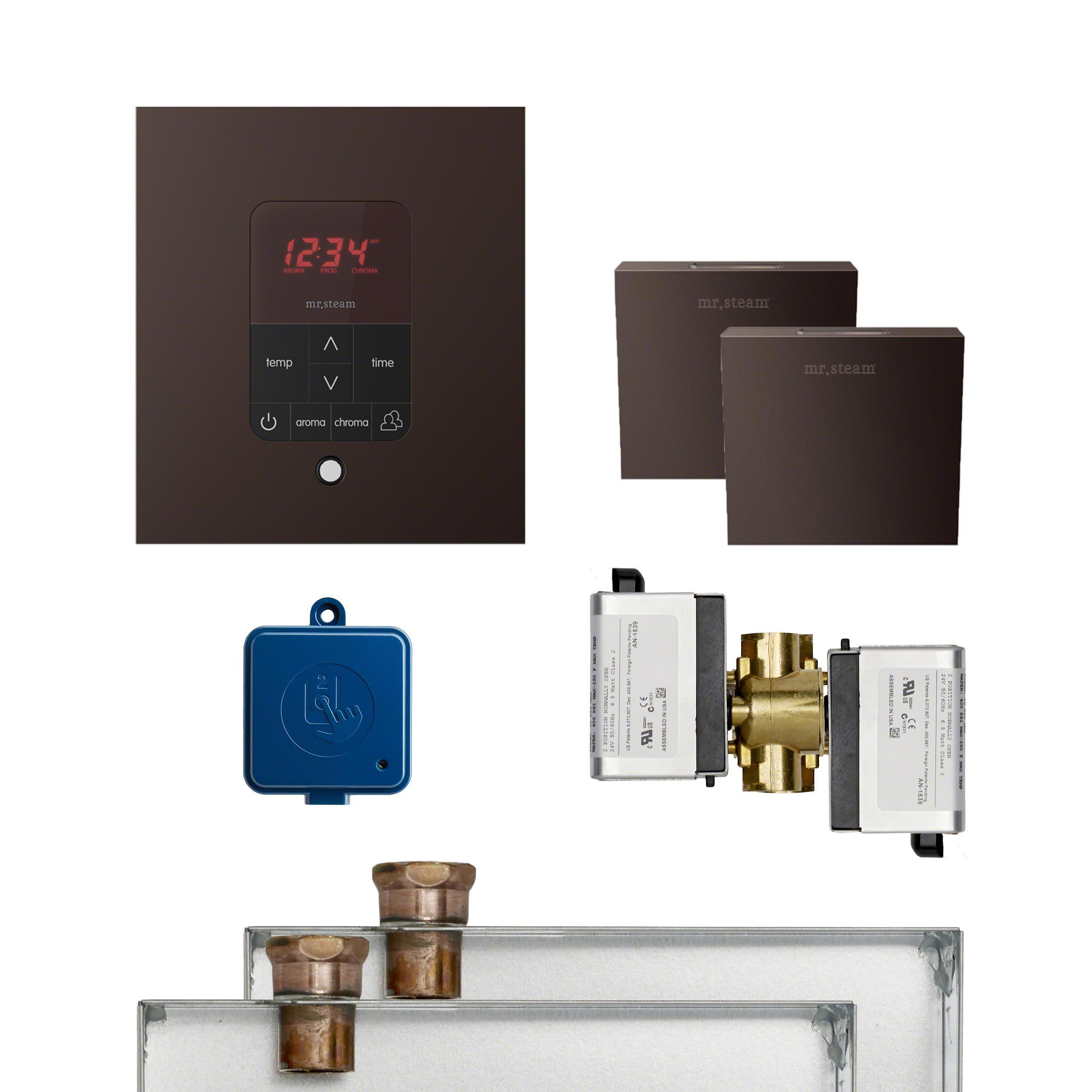 Mr Steam MSBUTLER2SQ-ORB Butler Package 2 Square Oil-Rubbed Bronze