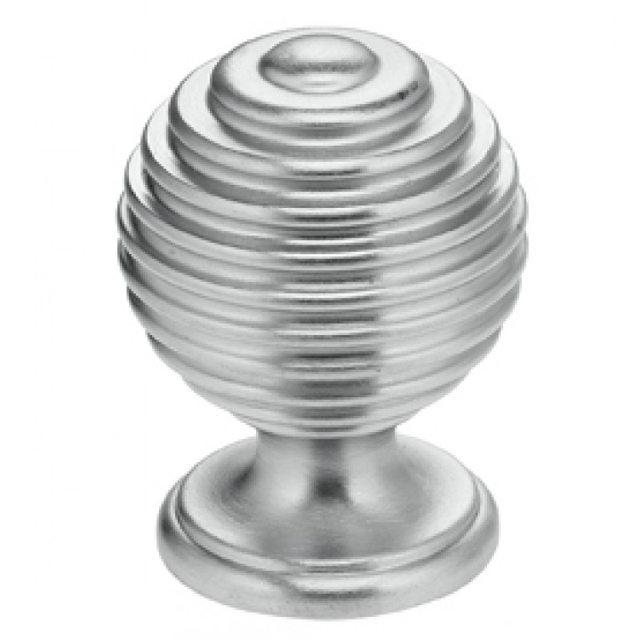 "Omnia 9107/25 Cabinet Knob 1"" dia - Satin Chrome Plated"