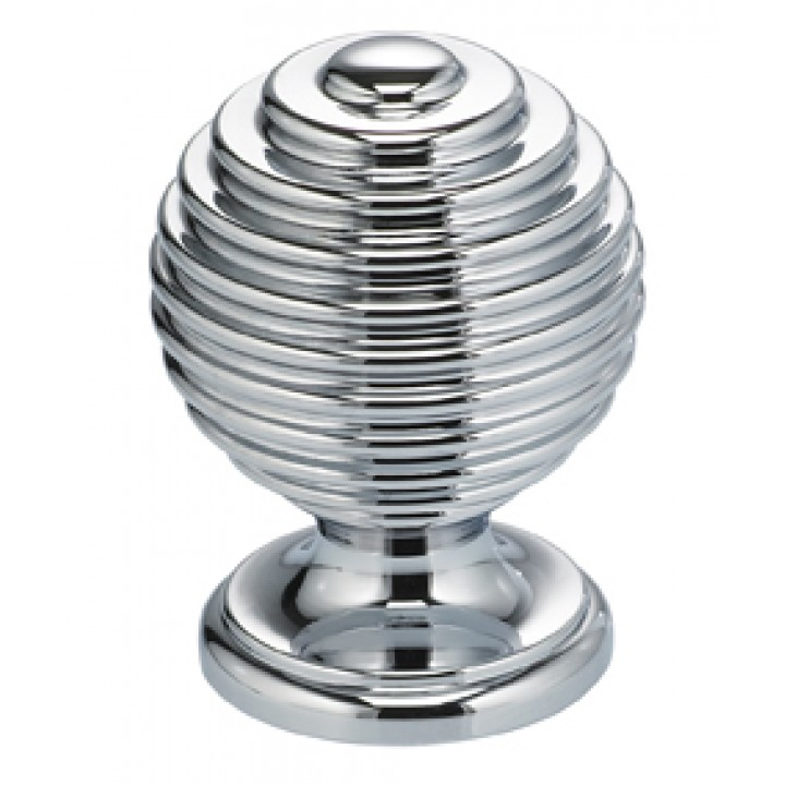 "Omnia 9107/30 Cabinet Knob 1-3/16"" dia - Polished Chrome Plated"