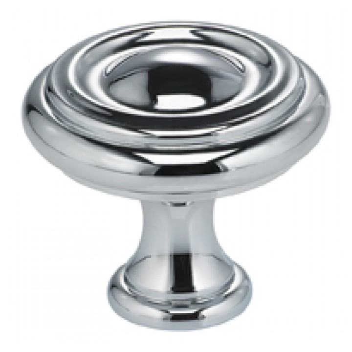 "Omnia 9141/40 Cabinet Knob 1-9/16"" dia - Polished Chrome Plated"