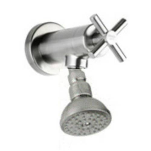 Outdoor Shower CAP-B3130-D1 Stainless Steel Smooth Cross Handle Concealed Valve