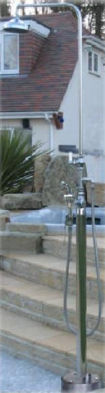 Outdoor Shower HC-4000-DLX Free Standing Hot and Cold Water Shower with ADA Lever Handle