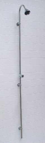 "Outdoor Shower PM-250 Wall Mount 80"" Cold Water Shower Unit"