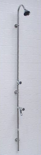 "Outdoor Shower PM-600 Wall Mount 80"" Cold Water Shower Unit"