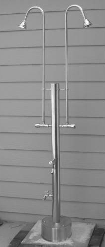 Outdoor Shower PS-3200-2X Free Standing Cold Water with Multiple Shower Head