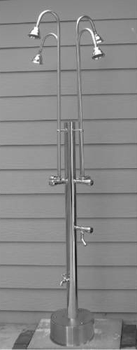 Outdoor Shower PS-3400-4X Free Standing Cold Water with Multiple Shower Head