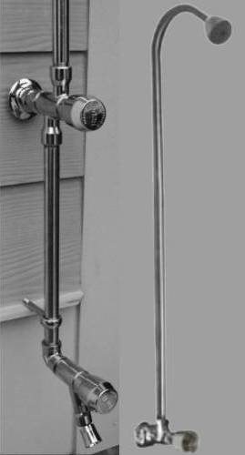 Outdoor Shower WM-442-ADA Wall Mount Short Cold Water Shower Unit