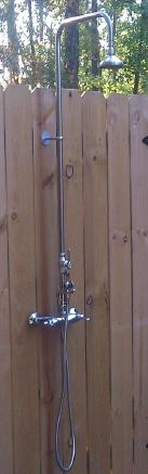 Outdoor Shower Wmhc 445 Dlx Ss Wall Mount Hot And Cold With