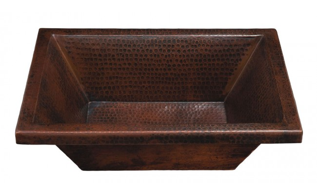Thompson Traders BPU-1914BC Diego Rectangular Hand Crafted Black Copper Bath Sink
