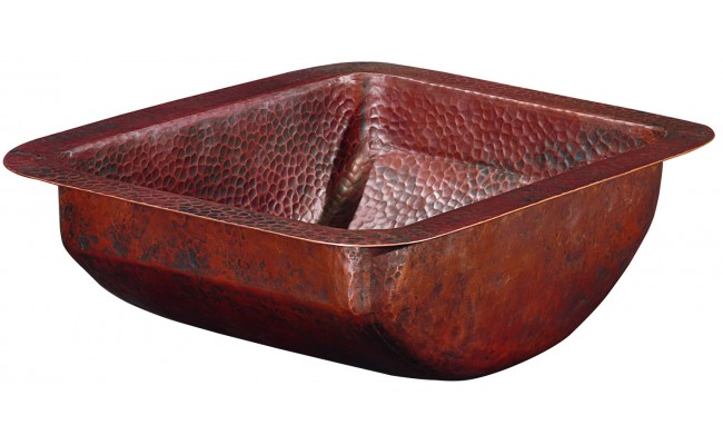 Thompson Traders BRU-1210BC Petit Star Rectangular Hand Hammered Bath Sink with Rounded Bottom