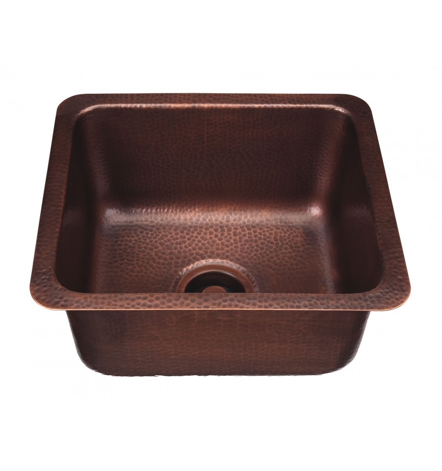 Thompson Traders NS25033H Como Rectangular Hand Hammered Copper Prep Sink