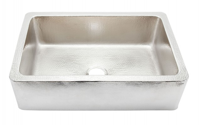 Thompson Traders KSA-2522BRN Petit Lucca Mini Hand Hammered Nickel Kitchen Sink