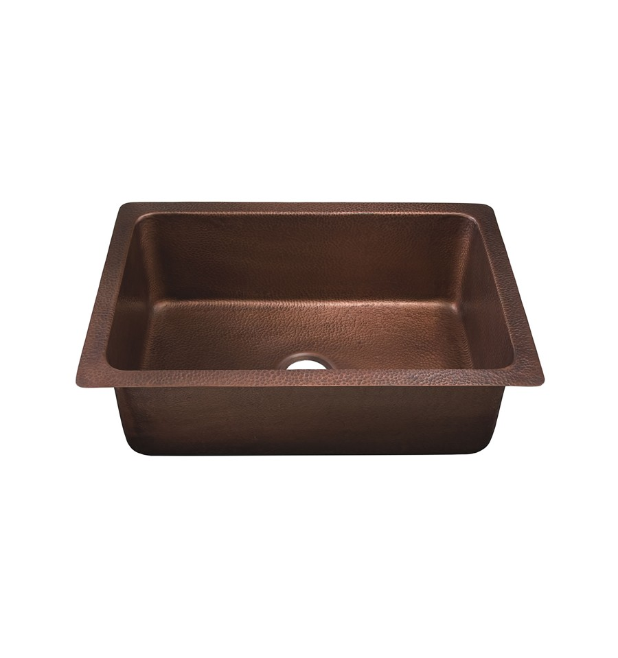 Thompson Traders KSU-3020AH Pisa Single Bowl Hand Hammered Copper Sink