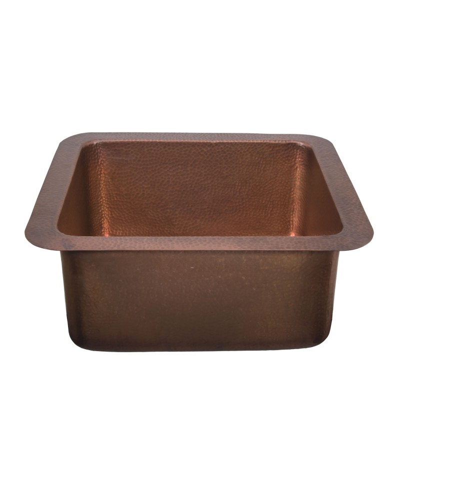 Thompson Traders NS25033H Vernazza Rectangular Hand Hammered Copper Prep Sink