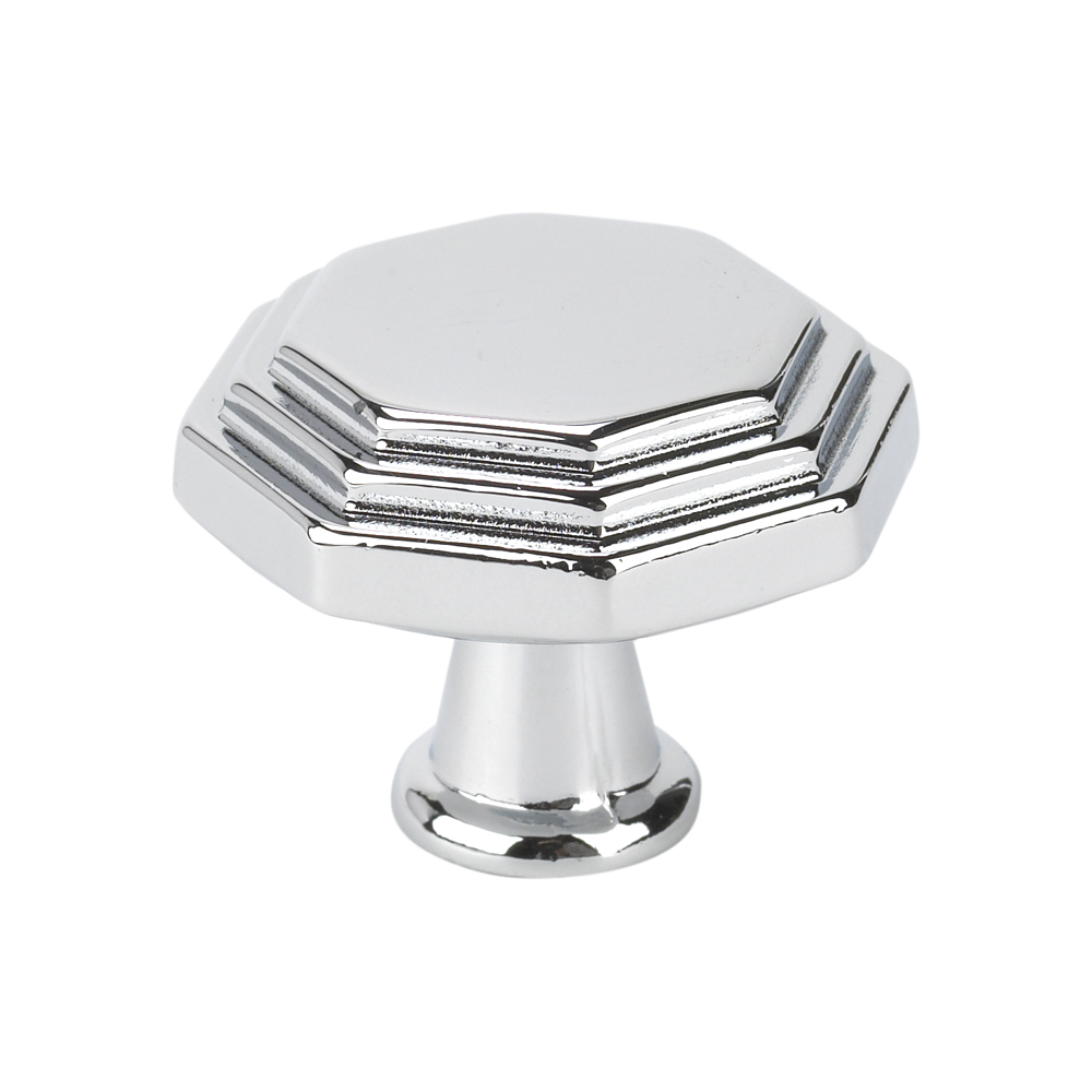 Topex Hardware 10819B40 Octagon Cabinet Knob - Chrome