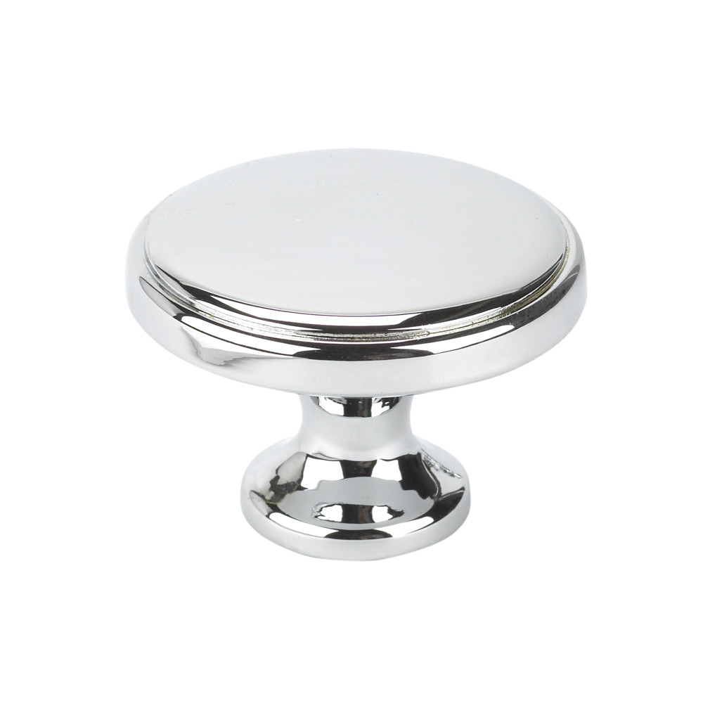 Topex Hardware 10826B40 Round Transitional Cabinet Knob - Chrome