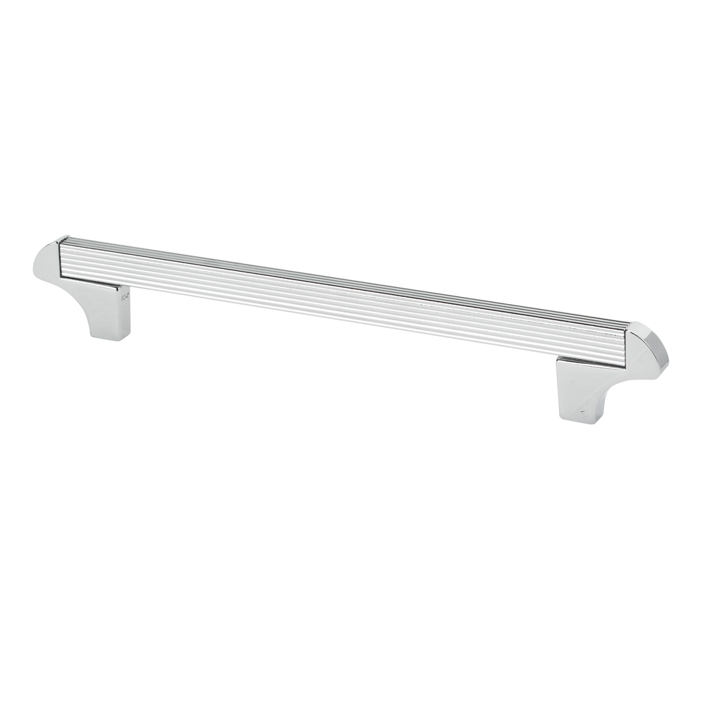 "Topex Hardware 8-114101604040 Square Transitional Cabinet Pull 6.29"" (C-C) - Chrome"