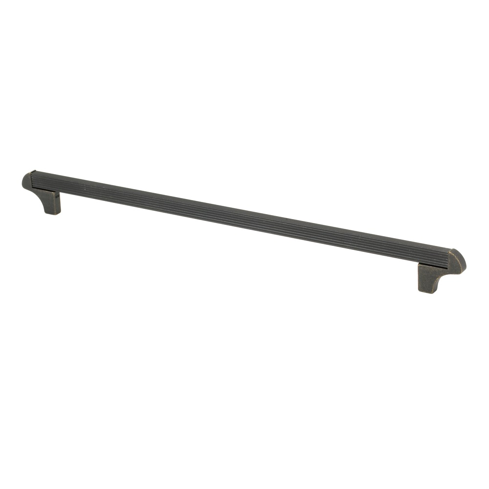 "Topex Hardware 8-114103202727 Square Transitional Cabinet Pull 12.5"" (C-C) - Dark Bronze"