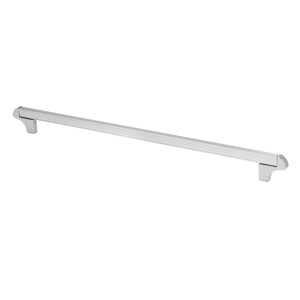 "Topex Hardware 8-114103204040 Square Transitional Cabinet Pull 12.5"" (C-C) - Chrome"