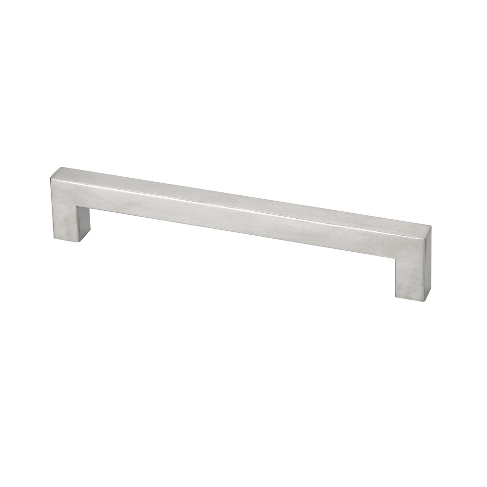 "Topex Hardware Fh00719216x16 Thick Square Rectangular Cabinet Pull 7.55"" (C-C) - Stainless Steel"