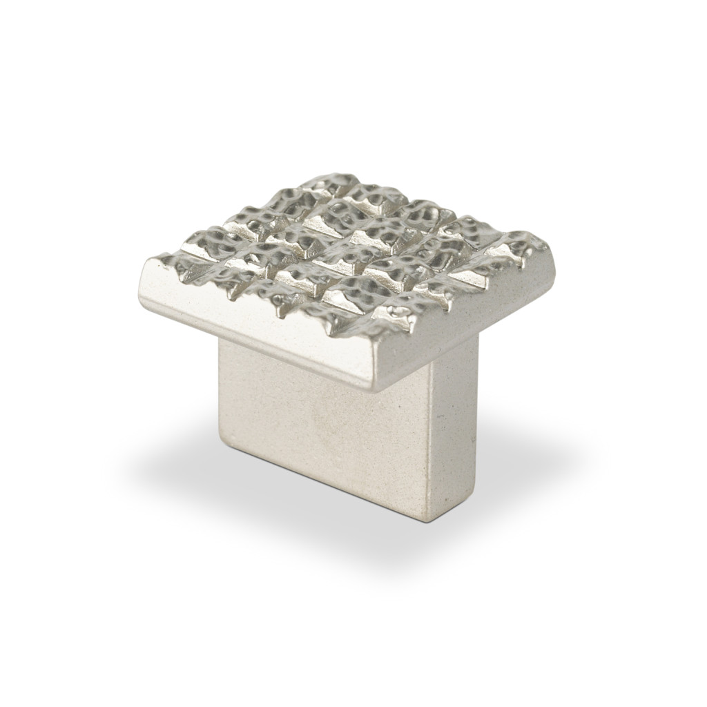 "Topex Hardware P2046.16NMG Mosaic Design Square Knob 0.6"" (C-C) - Satin Nickel"